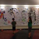קיר הקומיקס מיומו השני של קומיקסנטר 2015